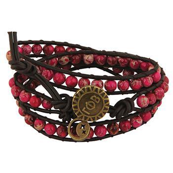 Gamma Phi Beta Sorority Triple Wrap Bracelet
