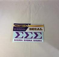 Sigma Sigma Sigma Tri-Sigma Decal