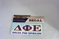 Delta Phi Epsilon DPHIE Sorority Decal