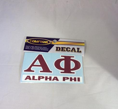 Alpha Phi Sorority Decal