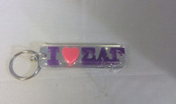 "Sigma Lambda Gamma Sorority ""I Heart"" Key Chain"