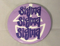 Sigma Sigma Sigma Tri-Sigma Sorority- Symbol Button-Large
