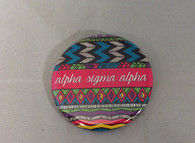 Alpha Sigma Alpha Sorority Tribal Print Button- Small