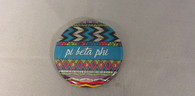 Pi Beta Phi Sorority Tribal Print Button- Small
