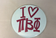 Pi Beta Phi Sorority- I Heart Button- Large