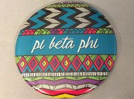 Pi Beta Phi Sorority Tribal Print Button- Large