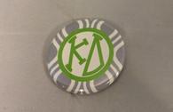 Kappa Delta Sorority Gray and White Button-Small
