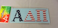 Alpha Delta Pi ADPI Sorority Car Letters- American Flag Pattern