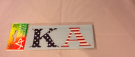 Kappa Alpha Fraternity Car Letters- American Flag Pattern