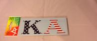 Kappa Alpha Fraternity Car Letters- American Flag Pattern