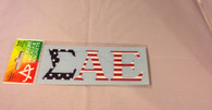 Sigma Alpha Epsilon SAE Fraternity Car Letters- American Flag Pattern