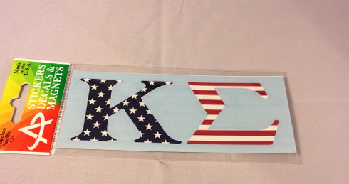 Kappa Sigma Fraternity Car Letters- American Flag Pattern