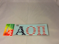 Alpha Omicron Pi Sorority Car Letters- American Flag Pattern