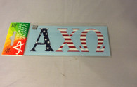 Alpha Chi Omega Sorority Car Letters- American Flag Pattern