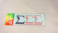 Sigma Sigma Sigma Tri-Sigma Sorority USA Car Letters- American Flag Pattern