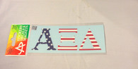Alpha Xi Delta Sorority USA Car Letters- American Flag Pattern