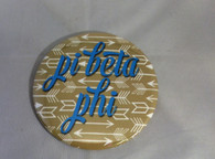 Pi Beta Phi Sorority Gold Symbol Button-Large