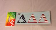 Delta Delta Delta USA Car Letters- American Flag Pattern