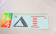 Delta Gamma Sorority USA Car Letters- American Flag Pattern