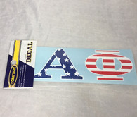 Alpha Phi Sorority USA Car Letters- American Flag Pattern