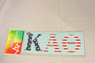 Kappa Alpha Theta Sorority USA Car Letters- American Flag Pattern
