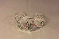 Alpha Kappa Alpha AKA Sorority Heart Bangle Bracelet