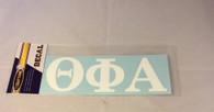 Theta Phi Alpha Sorority White Car Letters