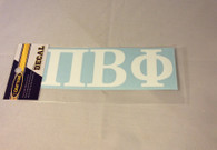 Pi Beta Phi Sorority White Car Letters