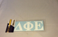 Delta Phi Epsilon Sorority White Car Letters