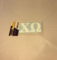Chi Omega Sorority White Car Letters