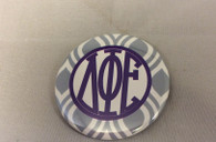 Delta Phi Epsilon Sorority Gray and White Button-Small