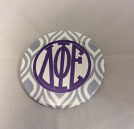 Delta Phi Epsilon Sorority Gray and White Button-Large