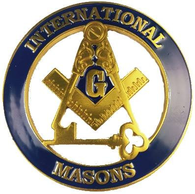 International Masons Cut Out Car Emblem