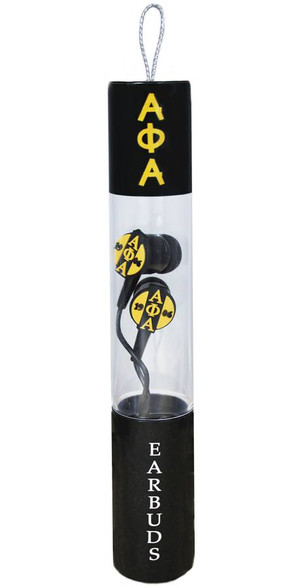 Alpha Phi Alpha Fraternity Ear Buds with Microphone with Microphone
