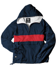 Charles River Sorority Anorak- Navy/Red