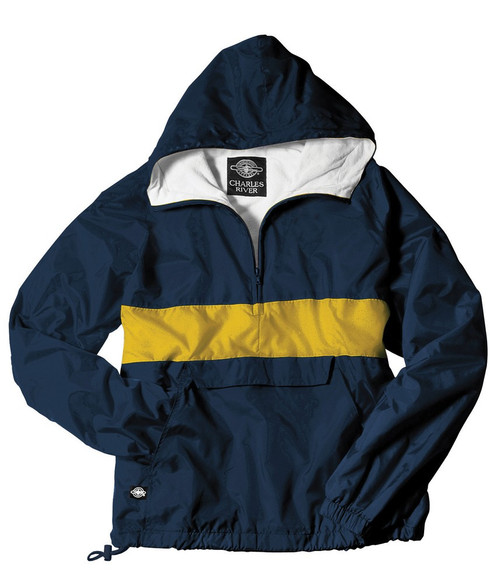 Charles River Sorority Anorak- Navy and Gold