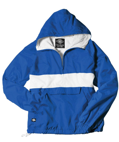 Charles River Sorority Anorak- Royal and White