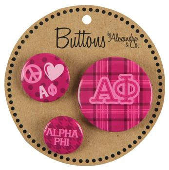 Alpha Phi Sorority Button Package