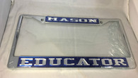 Mason Masonic Educator License Plate Frame