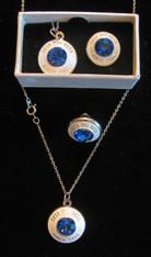 Zeta Phi Beta Sorority Necklace and Lapel Pin Set
