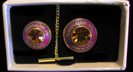 Omega Psi Phi Fraternity Tie Tac and Lapel Pin Set