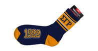 Sigma Gamma Rho Sorority Socks-Blue/Gold
