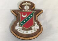 Kappa Sigma Fraternity Raised Wood Crest