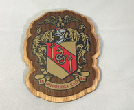 Theta Chi Fraternity Raised Wood Crest