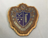 Chi Phi Fraternity Raised Wood Crest