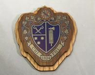 Chi Phi Fraternity Raised Wood Crest