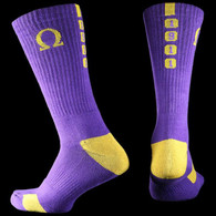 Omega Psi Phi Fraternity Dry Fit Crew Socks