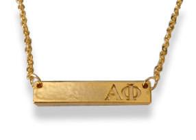 Alpha Phi Sorority Bar Necklace