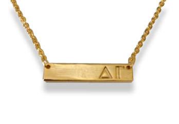 Delta Gamma Sorority Bar Necklace