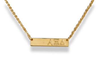 Alpha Xi Delta Sorority Bar Necklace
